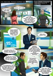 Standard Chartered Mobile Banking Comic Book Superheroes - 2