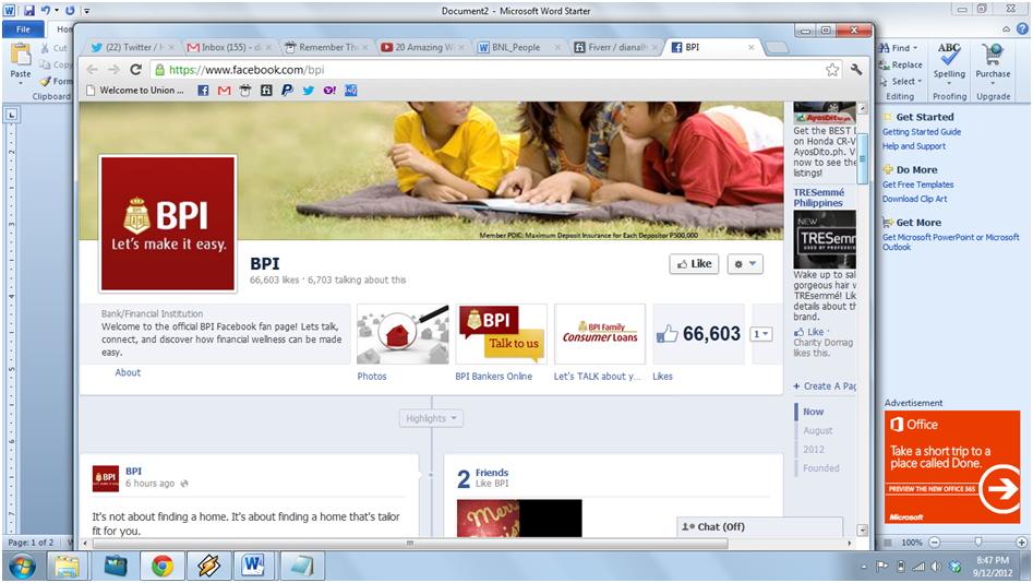 BPI Bankers Online Facebook App - Customer Voice