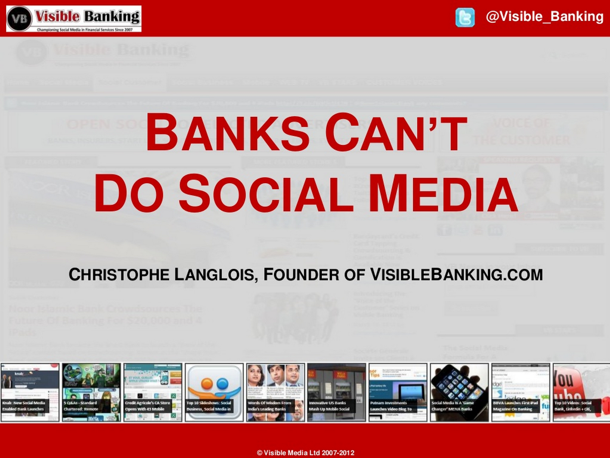Banks Cant Do Social Media - Visible Banking