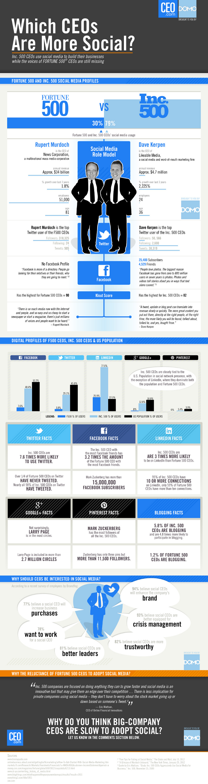 Social Media CEO Social Business Infographic 2012