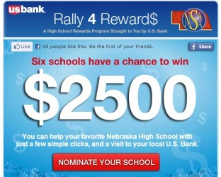 US Bank Crowdsources $15,000 Award To High School Programs on Facebook