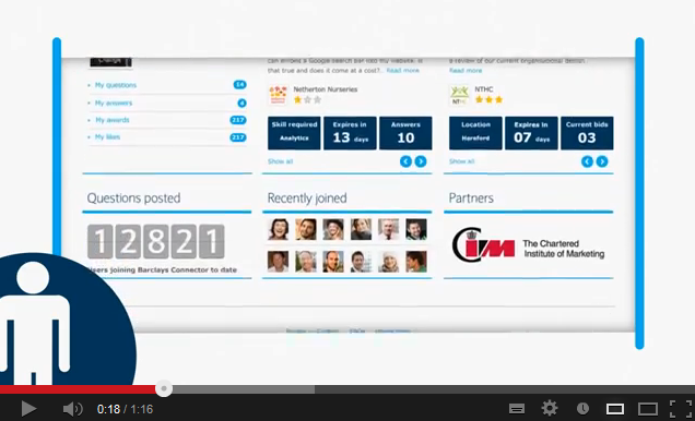 Banking Barclays Connector Online Community Small Businesses Video