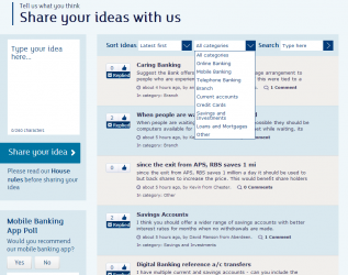 RBS Banking Innovation Ideas Bank Best User Suggestions