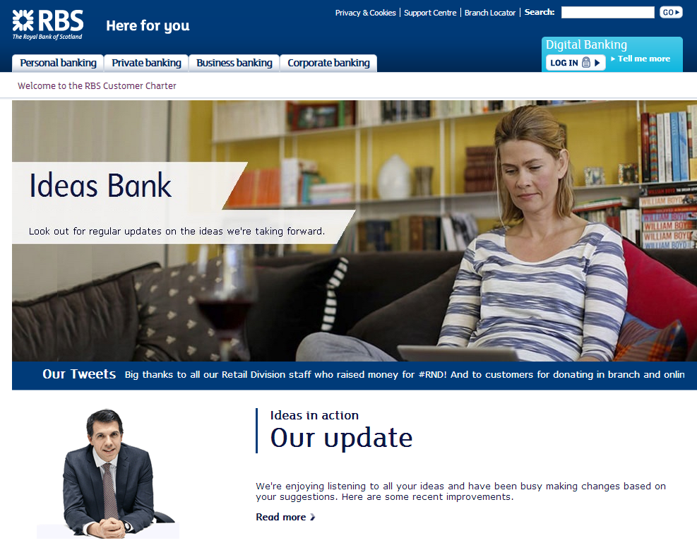 RBS Banks Open Banking Innovation Ideas Bank Crowdsourcing