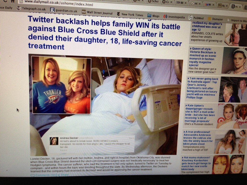 Teenage Cancer Patient Taps Twitter Get Insurance Cover Transplant Crowdsourcing