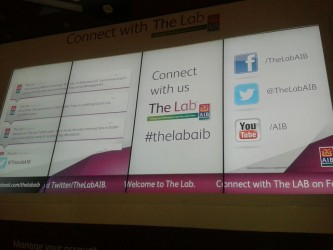 AIB The Lab Social Media Wall Branch of the Future