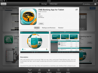 FNB Banking App Tablet Mobile Banking App iPad April 2013