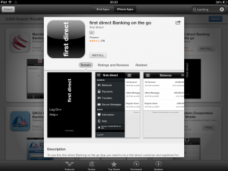 First Direct Mobile Banking App iPhone April 2013