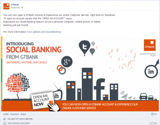 GTBank Launches Social Banking, Becomes Top Social Media Bank on Facebook