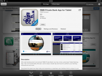 RMB Private Bank App Tablet Mobile Banking App iPad April 2013
