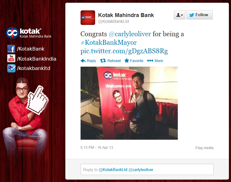 SoLoMo Kotak Mahindra Bank Celebrates Foursquare Day 200 Banking Branches Social Media Banking