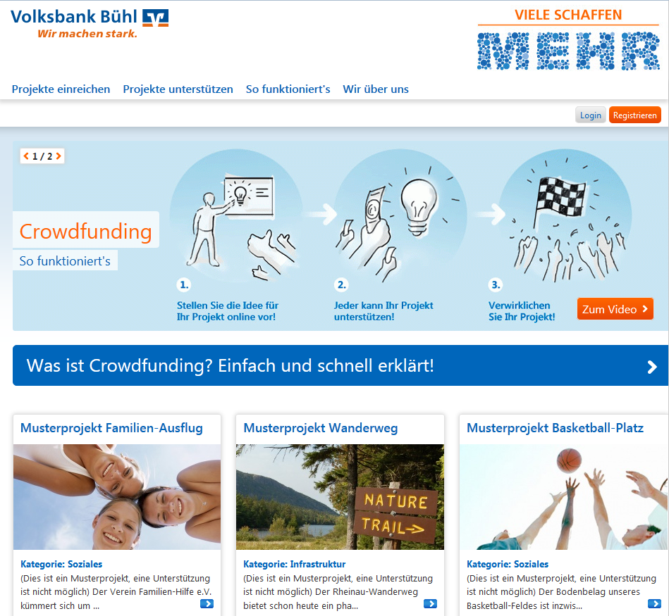 Volksbank Buhl German CooperativeBanks Regional Crowdfunding Platforms Banking Innovation