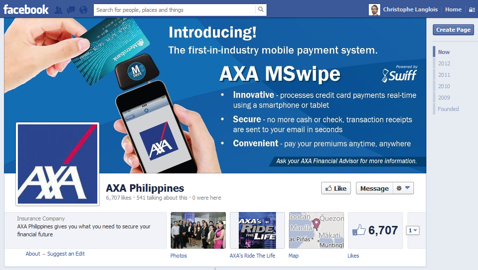 Axa Life Insurance Quote Mesmerizing Facebook Axa Mswipe Mobile Payments  Insurance Innovation