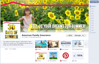 American Family Facebook Page Social Media Insurance