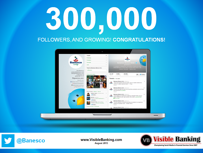 Banesco 300k Twitter Followers Social Media Banking