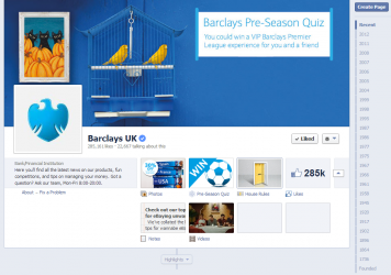 Barclays Bank UK Facebook Page August 2013