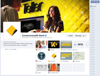 Commonweath Bank Facebook Page Social Media Banking