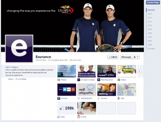 Esurance Facebook Page August 2013