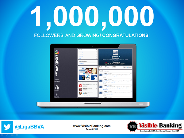 LigaBBVA Reaches 1 million Twitter Followers Social Media Banking
