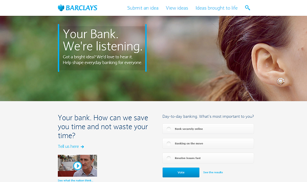 Barclays Your Bank Ideabank Crowdsourcing Banking Innovation