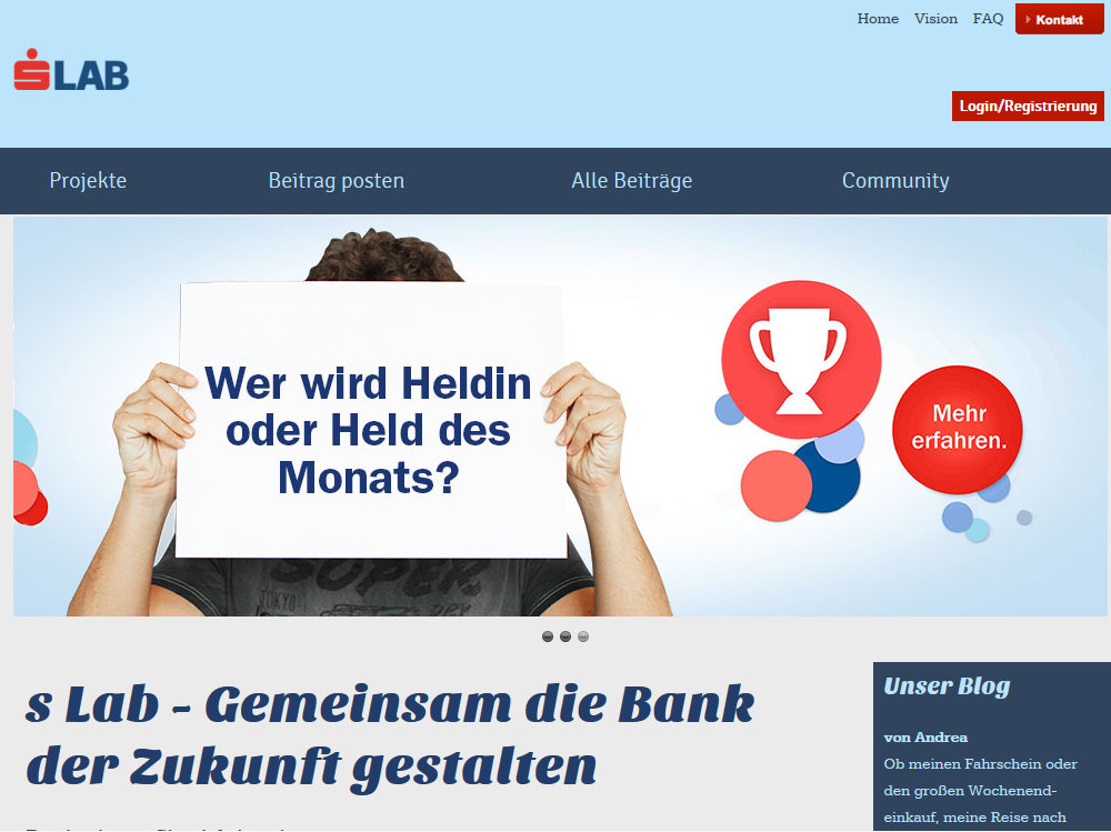 Erste Bank Banking Innovation Lab Sparkasse Crowdsourcing Gamification