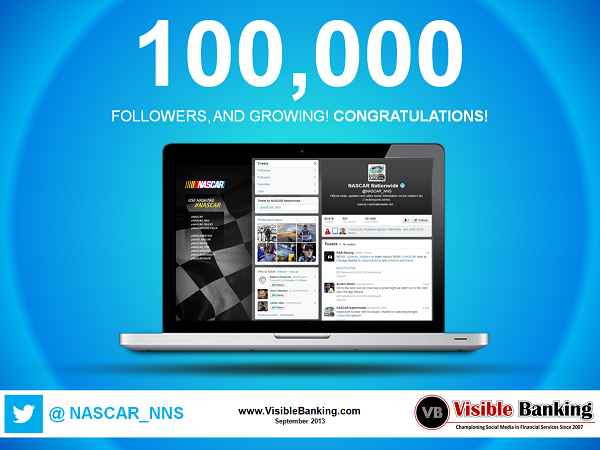 Nascar Nationwide Insurance Twitter Followers 100k September 2013