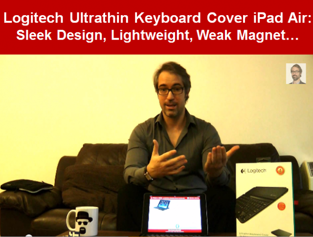 REVIEW LOGITECH Ultrathin Keyboard Cover for iPad Air Apple Design Video