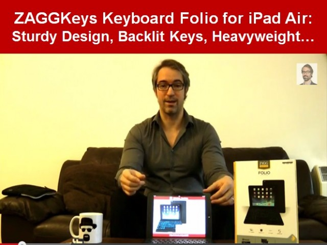 Video Review of ZAGGKeys Folio iPad Air Best Keyboard for iPad Air