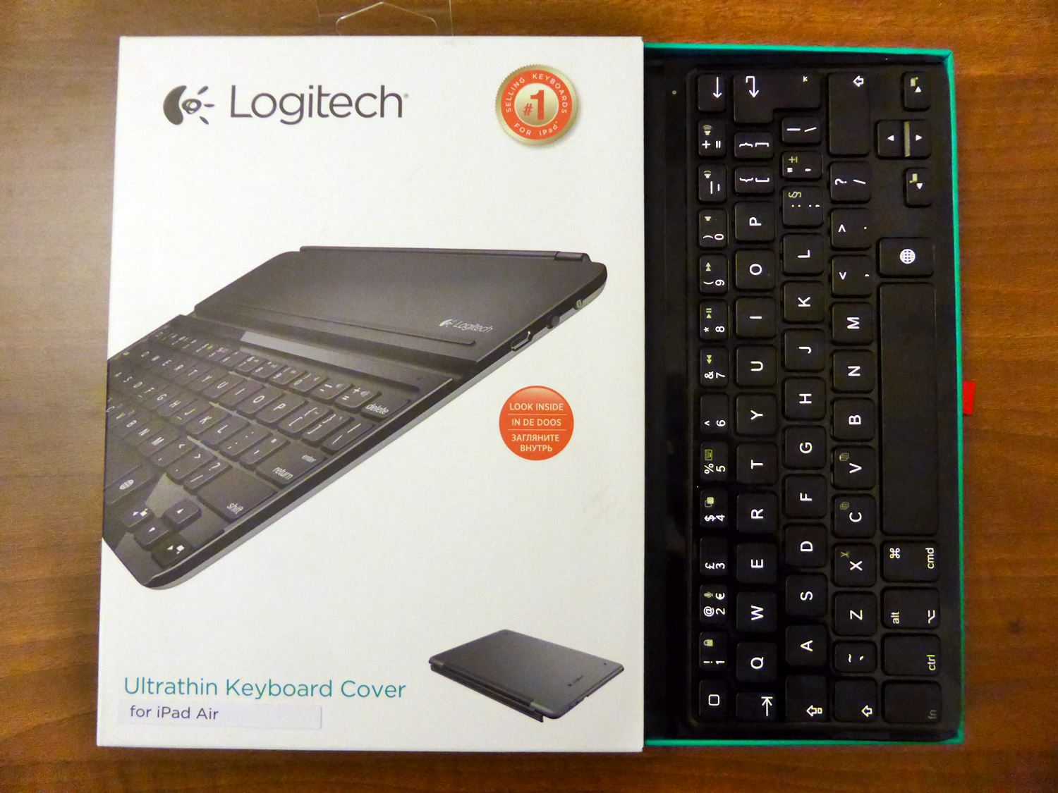 Unboxing the LOGITECH Ultrathin Keyboard Cover for iPad Air Open Box with Keyboard Still Inside