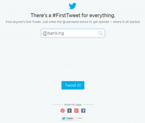 25 First Tweets Top 50 Banking Twitter Accounts