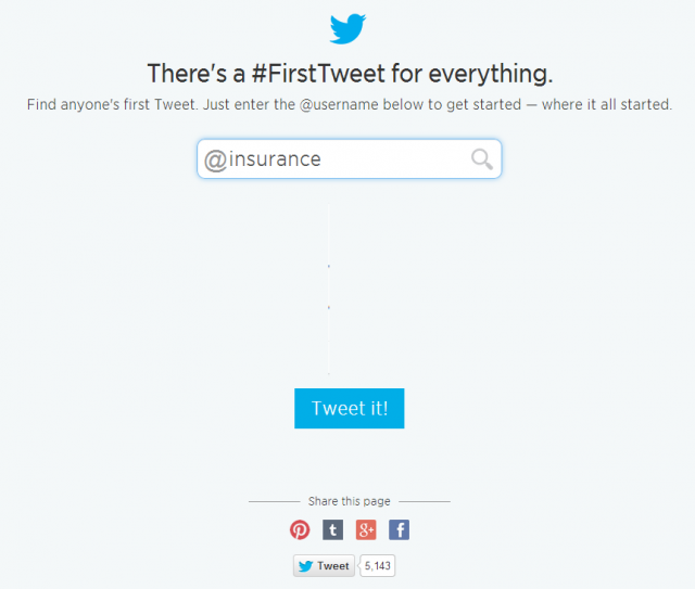 25 First Tweets Top 50 Insurance Twitter Accounts
