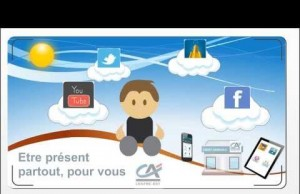 Credit Agricole Centre Est Promotes Digital Banking Services Social Media