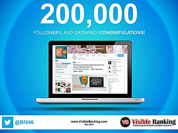 Bank Negara Indonesia Twitter Followers 200k Social Media Banking May 2014