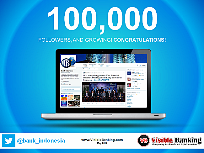 The Central Bank of Indonesia Reaches 100k Twitter Followers