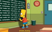 Social Media Board Bart Simpson Visible Banking