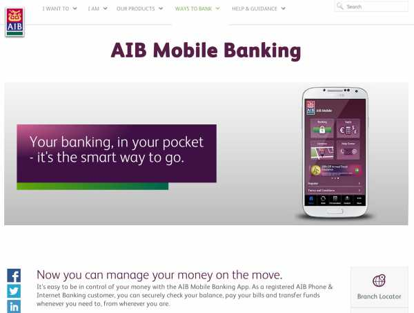 AIB Bank Mobile Banking Digital
