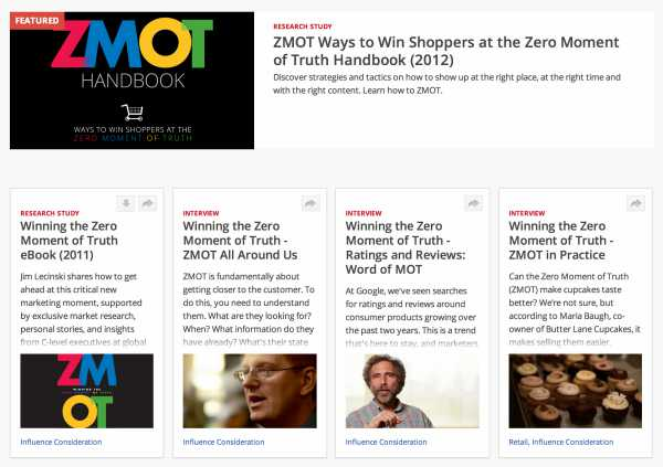 ZMOT Google Zero Moment of Truth