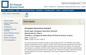 Financial Services Forum European Executive Summit 2014