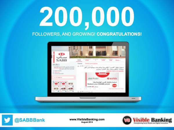 HSBC SABB Bank Twitter Followers 200k Social Media Banking August 2014