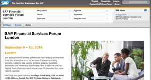 SAP Financial Services Forum London 2014