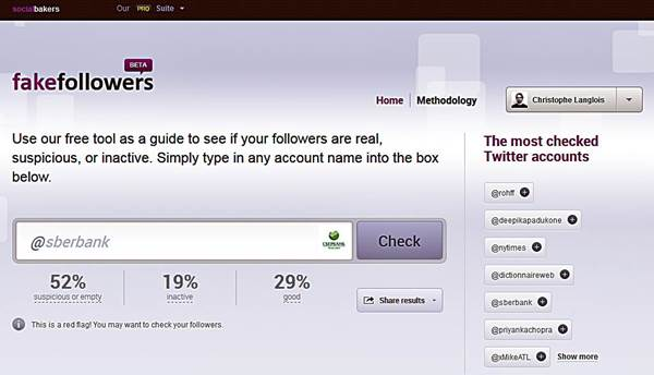 how to check fake twitter followers