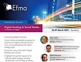 Digital Banking Social Media EFMA Distribution Summit 2015