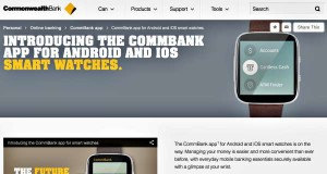 CommBank Mobile Banking App Smartwatches