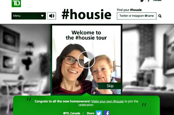 TDBank Housie Homeowners Selfies Social Media Banking