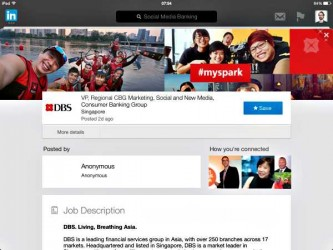 DBS Bank VP Regional Marketing Social Media Banking