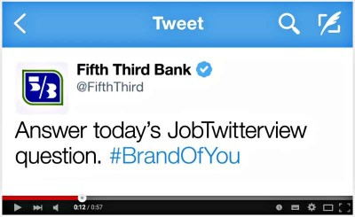 Fifth Third Bank JobTwitterviews Social Media Banking