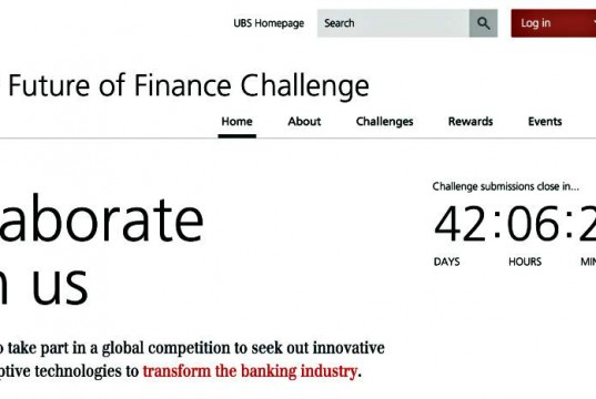 UBS the Future of Finance Challenge Banking Innovation