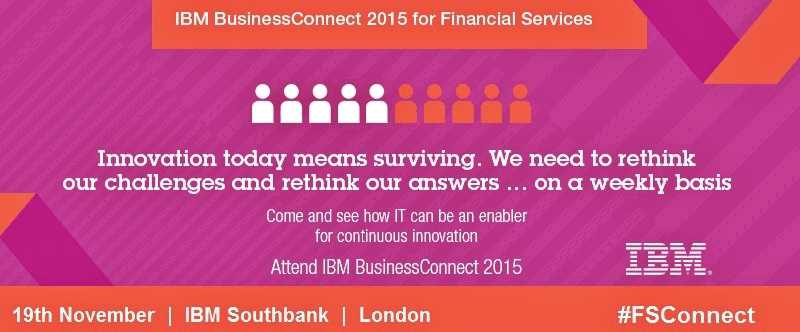 Financial Services IBM BusinessConnect 2015 Banking Innovation