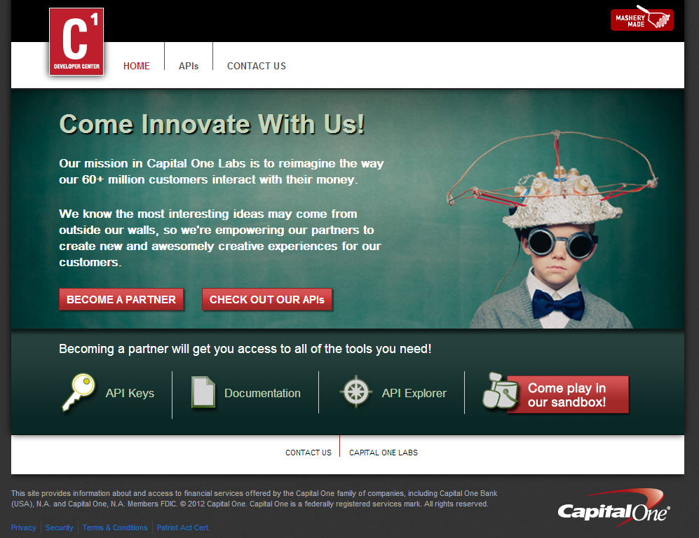 Capital One APIs Open Innovation