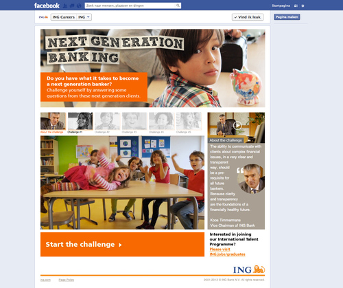 ING Recruits Next Gen Bankers Via Social Media Contest on Facebook